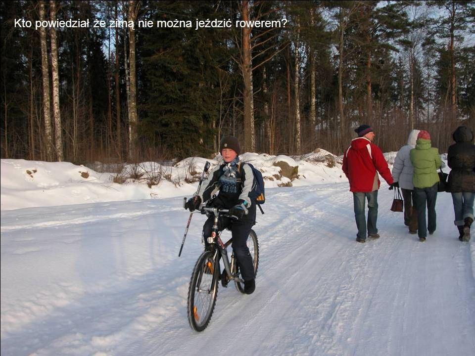 Kto powiedział że zimą nie można jeździć rowerem
