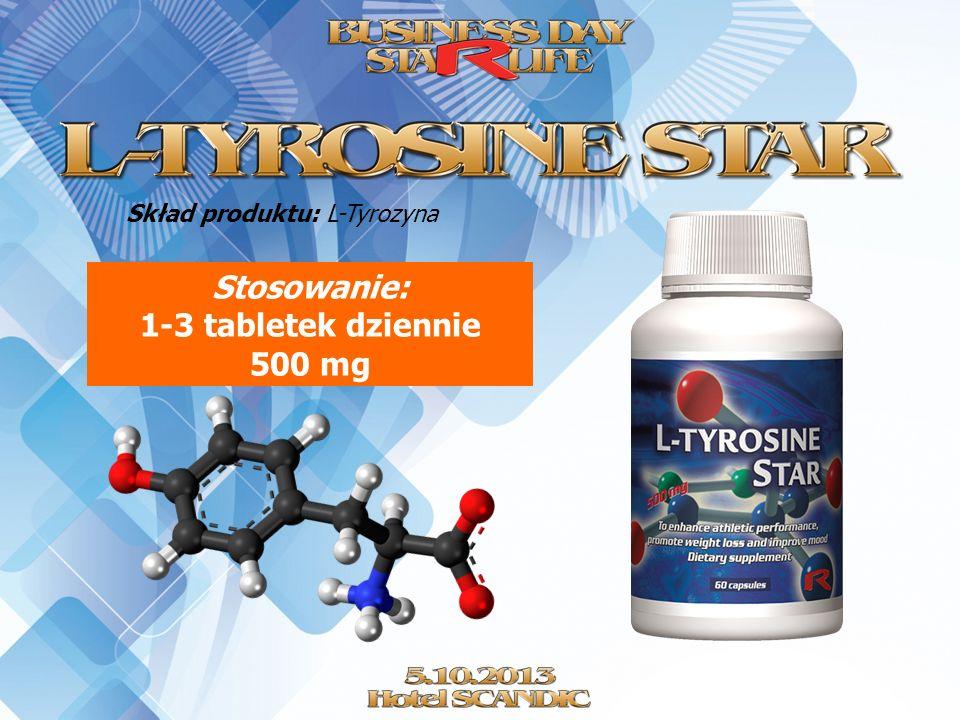 Stosowanie: 1-3 tabletek dziennie 500 mg