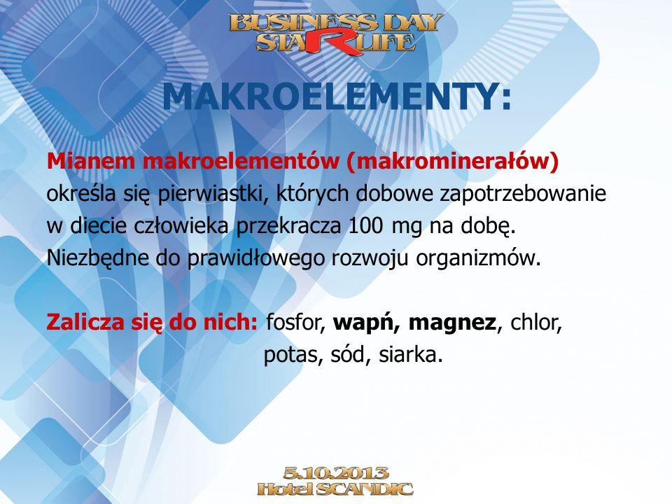 MAKROELEMENTY: