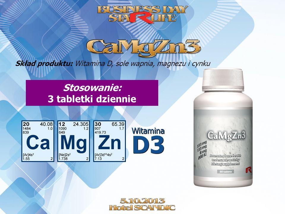 Stosowanie: 3 tabletki dziennie
