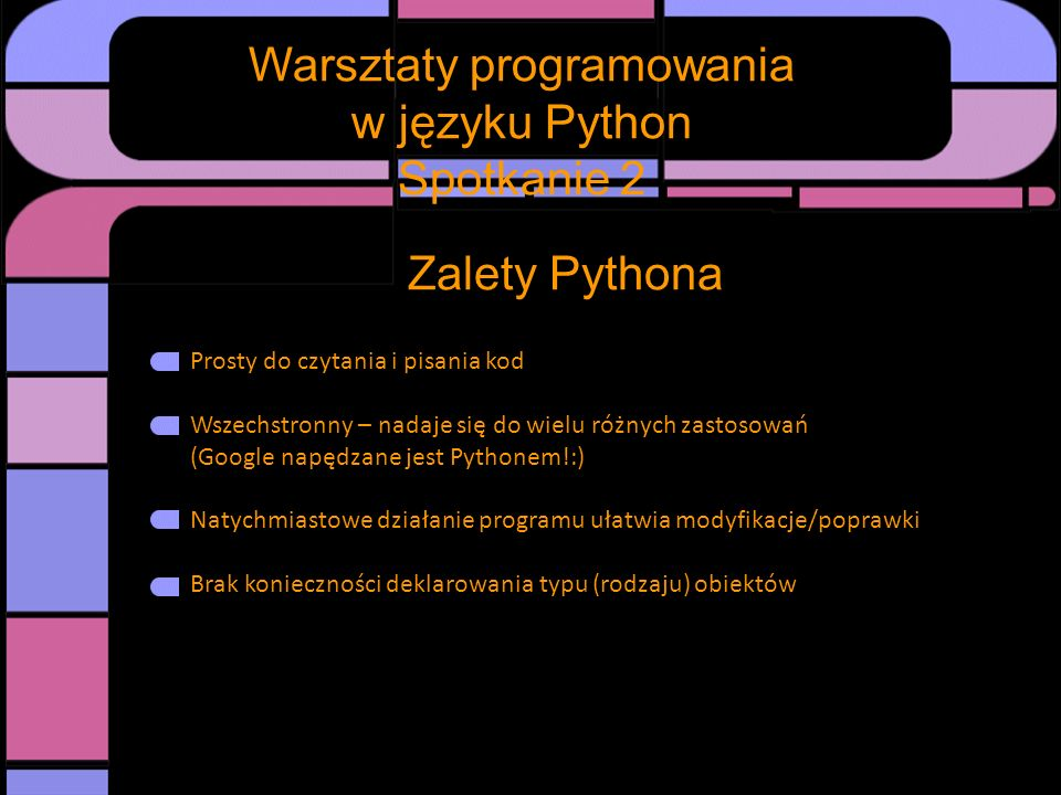 Warsztaty programowania w języku Python