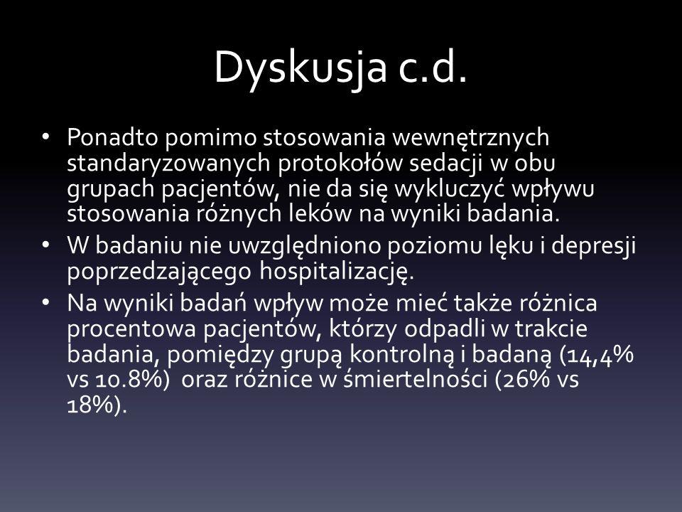 Dyskusja c.d.