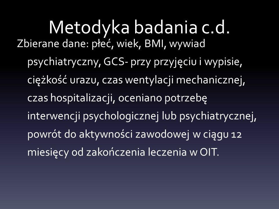 Metodyka badania c.d.