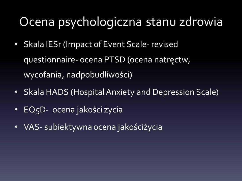 Ocena psychologiczna stanu zdrowia