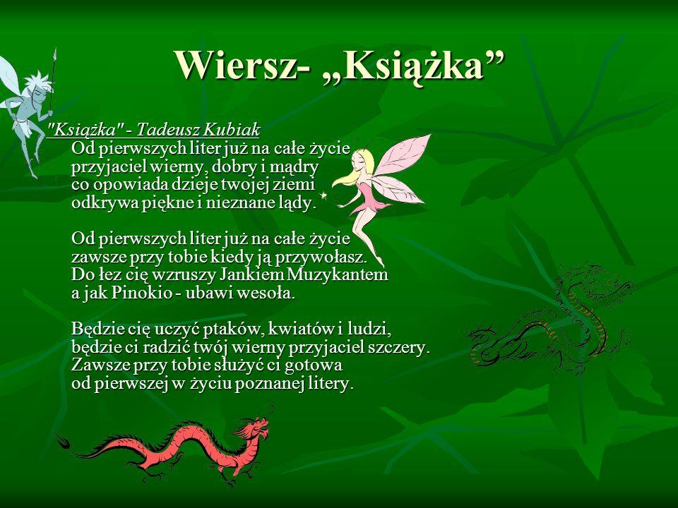 """Wiersz- """"Książka"""