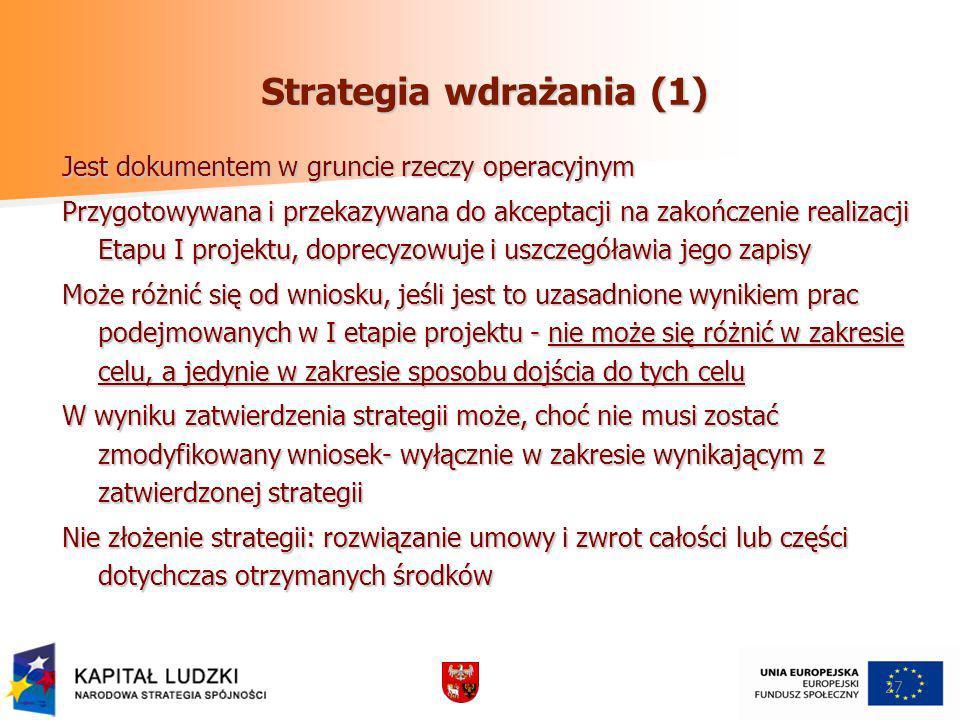 Strategia wdrażania (1)