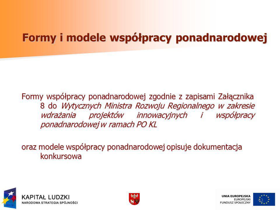Formy i modele współpracy ponadnarodowej