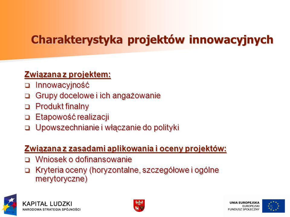 Charakterystyka projektów innowacyjnych
