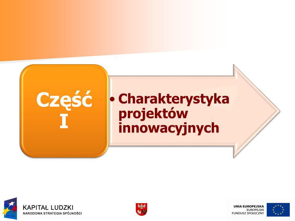 Część I Charakterystyka projektów innowacyjnych