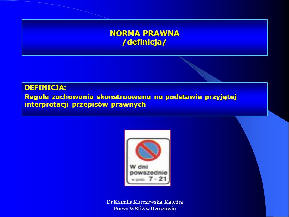 NORMA PRAWNA /definicja/