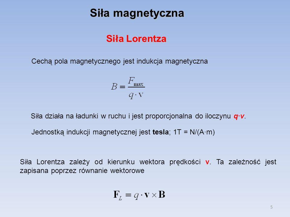 Siła magnetyczna Siła Lorentza