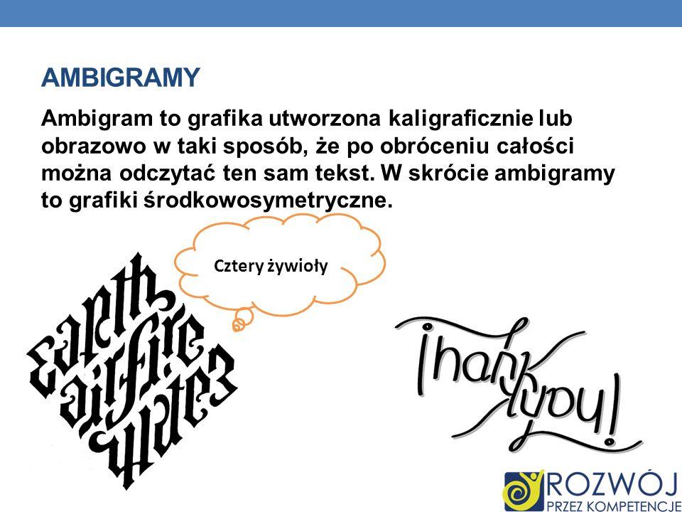 ambigramy