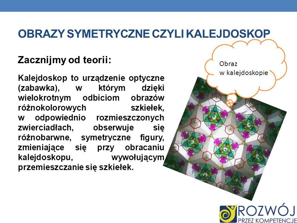 Obrazy symetryczne czyli kalejdoskop