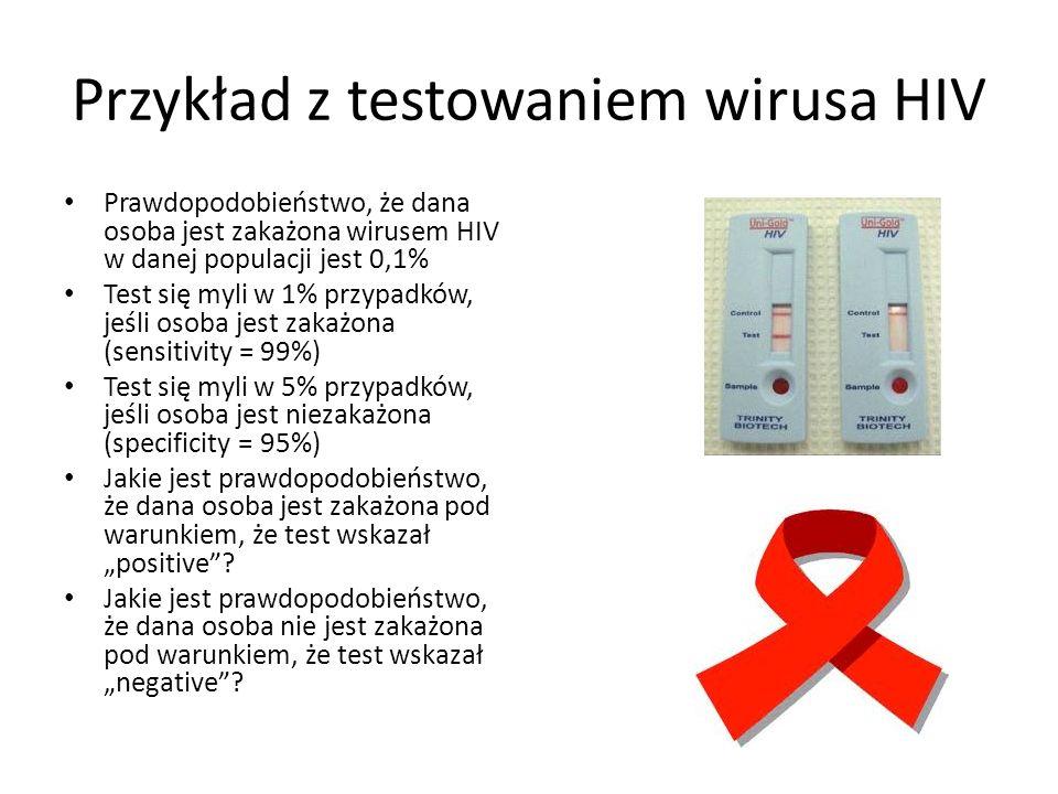 Przykład z testowaniem wirusa HIV