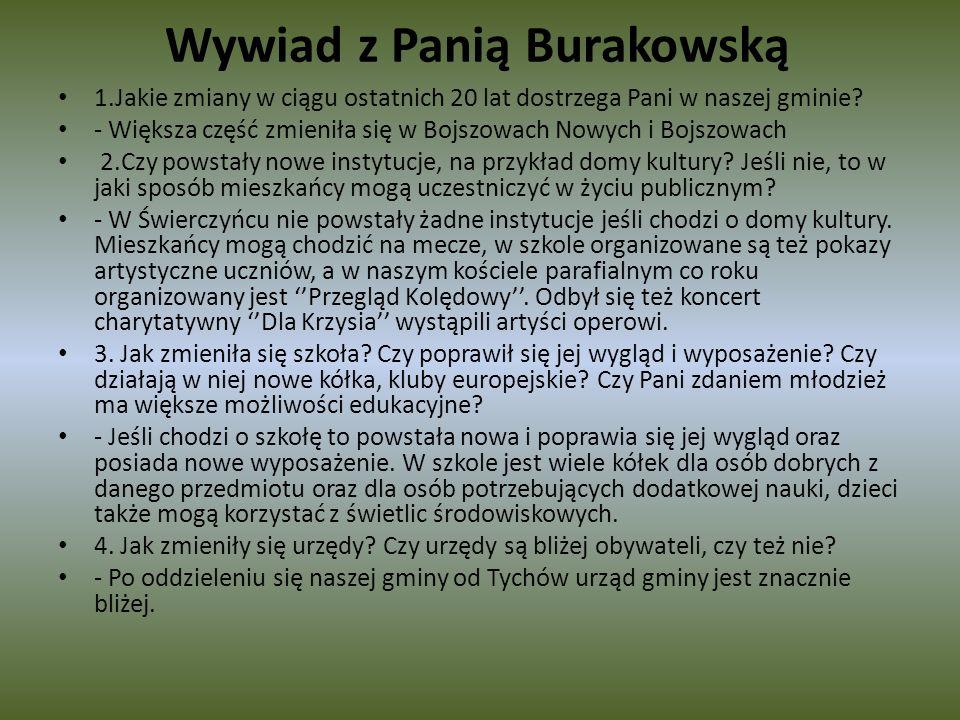 Wywiad z Panią Burakowską