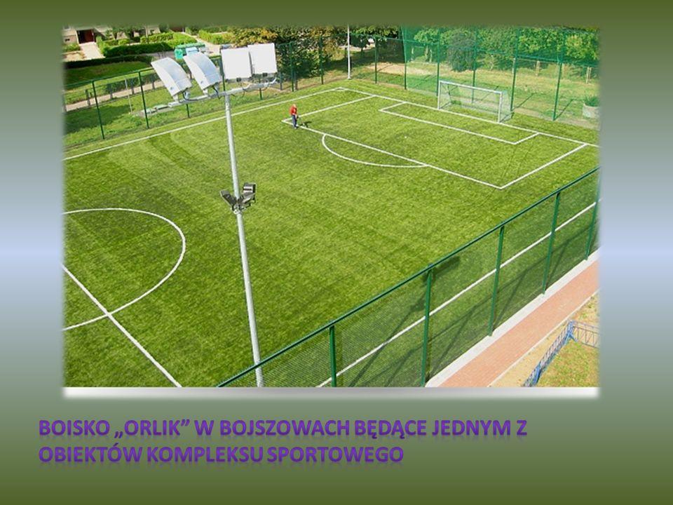 """Boisko """"Orlik w Bojszowach będące jednym z obiektów kompleksu sportowego"""