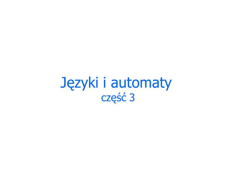Języki i automaty część 3