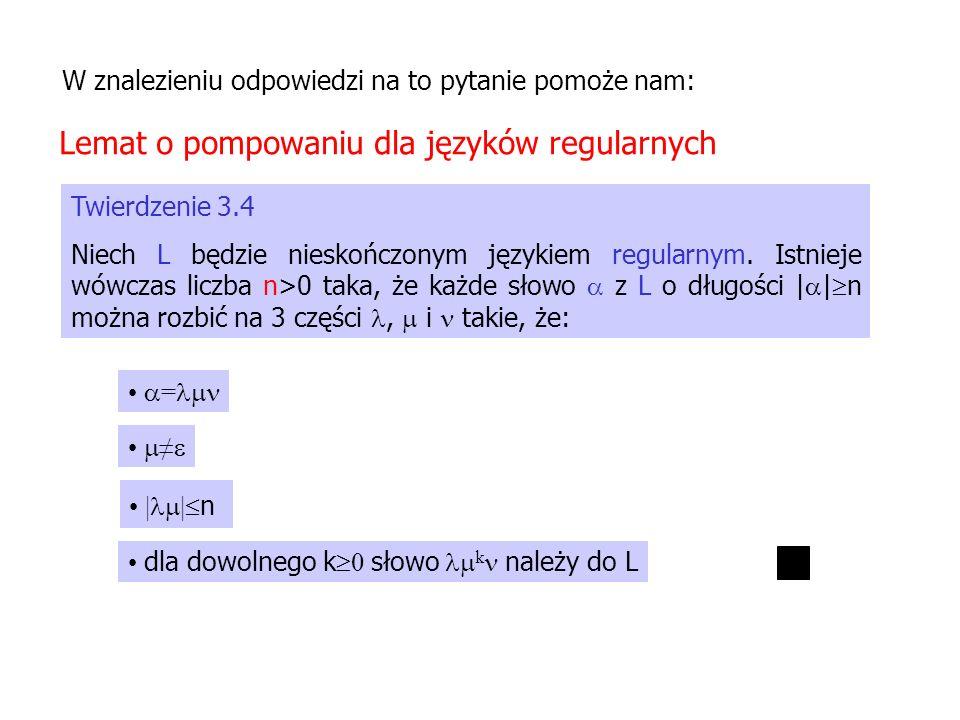 Lemat o pompowaniu dla języków regularnych