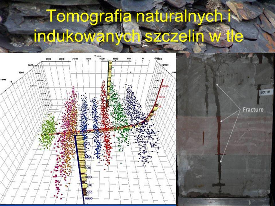 Tomografia naturalnych i indukowanych szczelin w tle