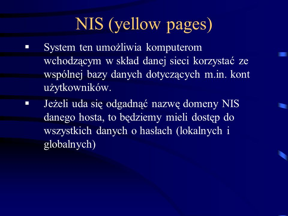 NIS (yellow pages)