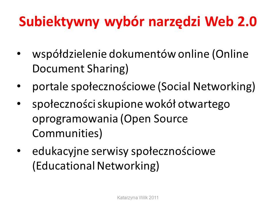 Subiektywny wybór narzędzi Web 2.0