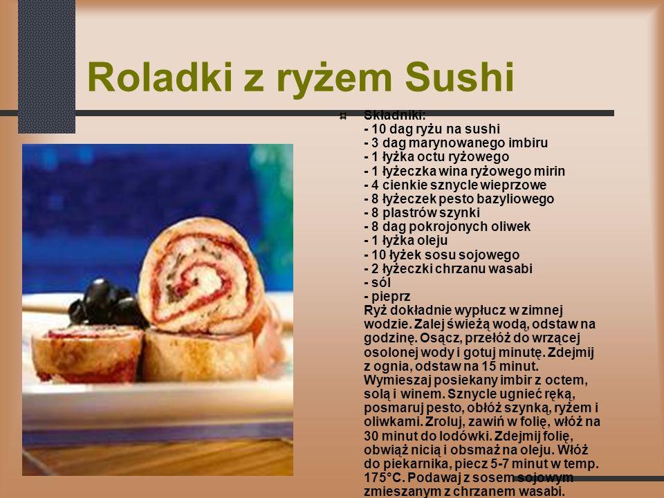 Roladki z ryżem Sushi