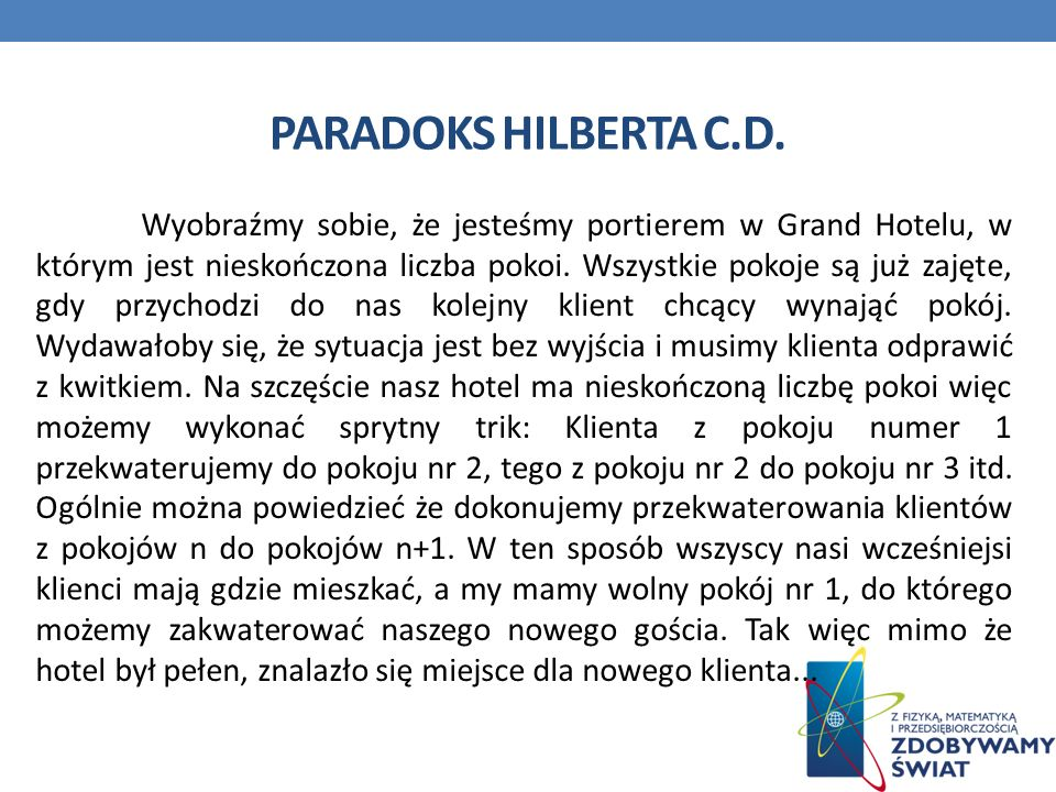 Paradoks Hilberta c.d.
