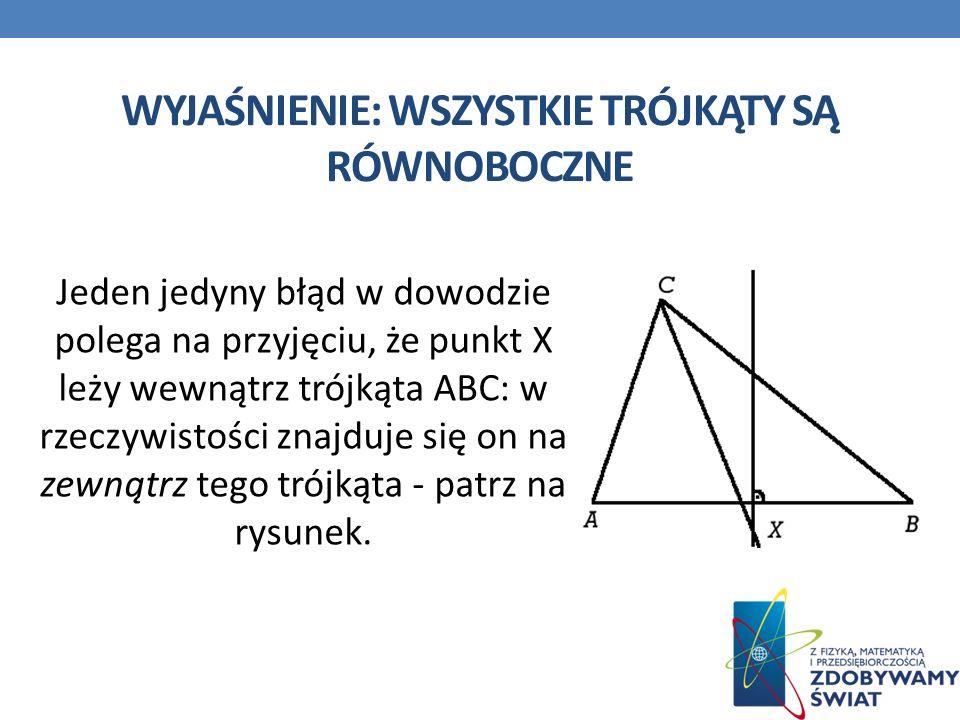 Wyjaśnienie: Wszystkie trójkąty są równoboczne