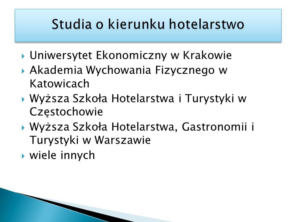 Studia o kierunku hotelarstwo