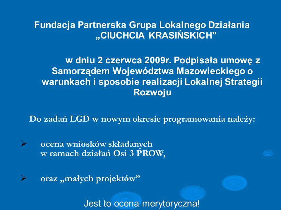 """Fundacja Partnerska Grupa Lokalnego Działania """"CIUCHCIA KRASIŃSKICH"""