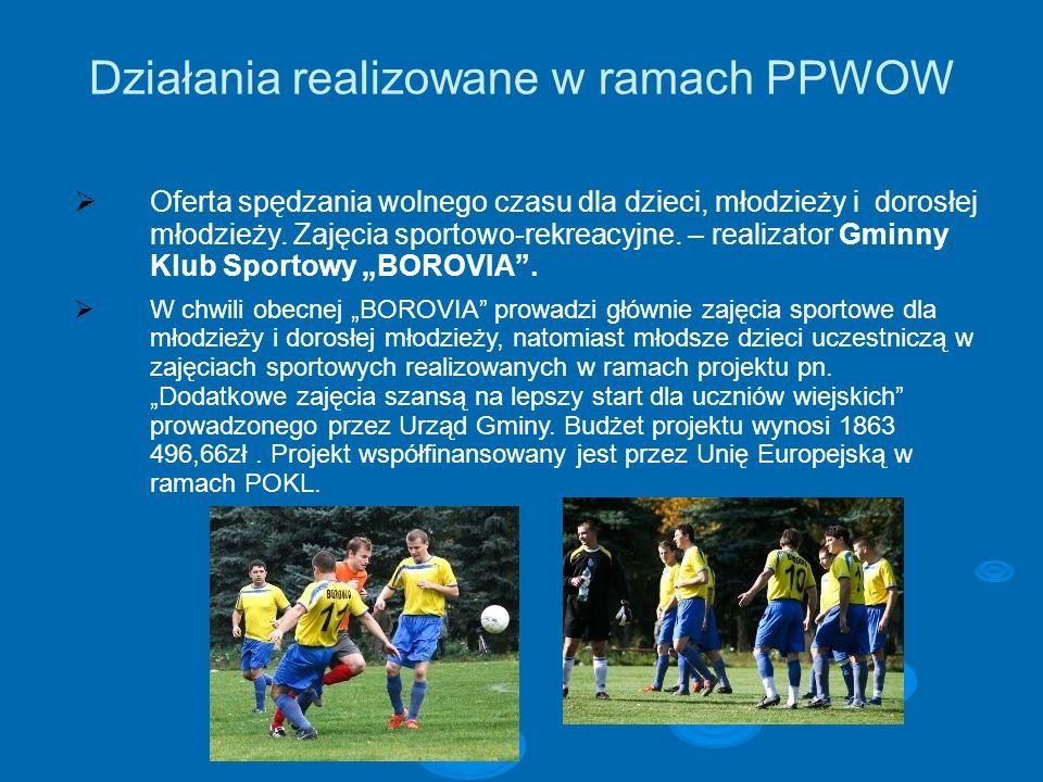 Działania realizowane w ramach PPWOW