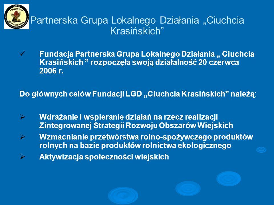 """Partnerska Grupa Lokalnego Działania """"Ciuchcia Krasińskich"""