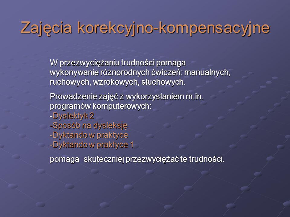 Zajęcia korekcyjno-kompensacyjne