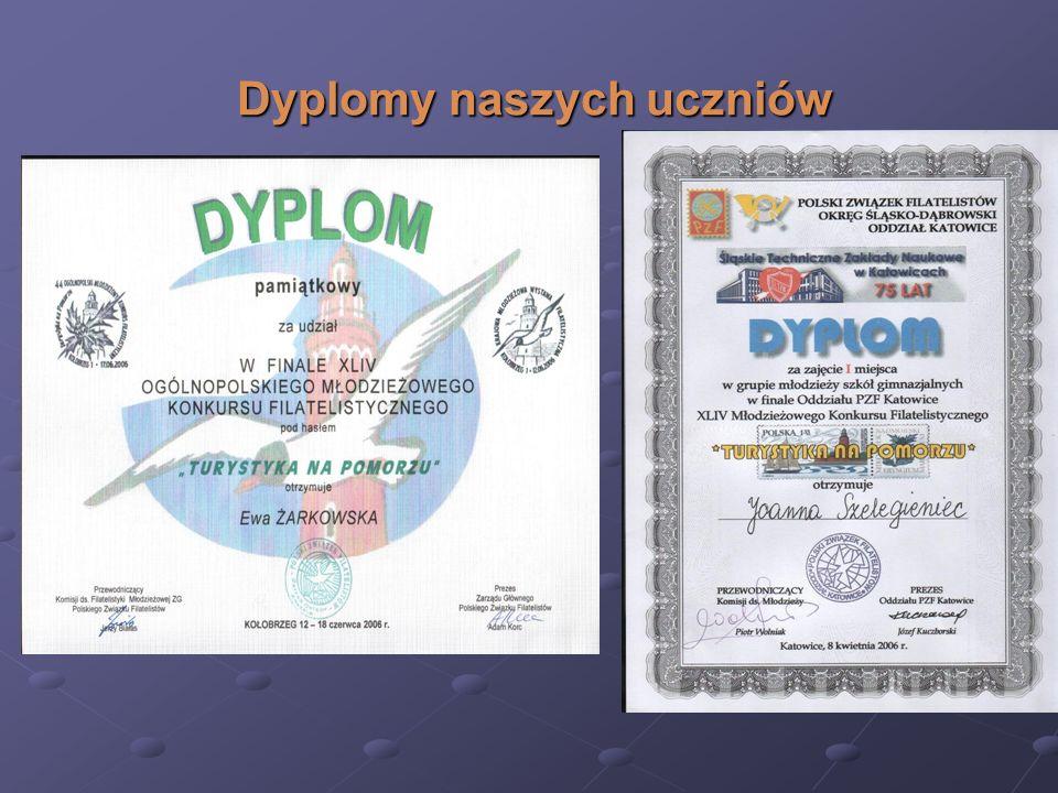Dyplomy naszych uczniów