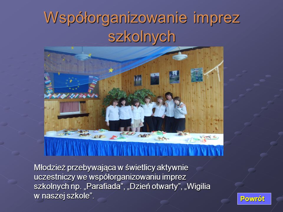 Współorganizowanie imprez szkolnych