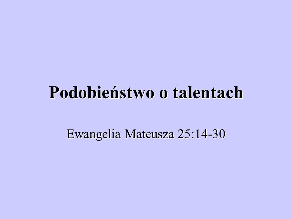 Podobieństwo o talentach