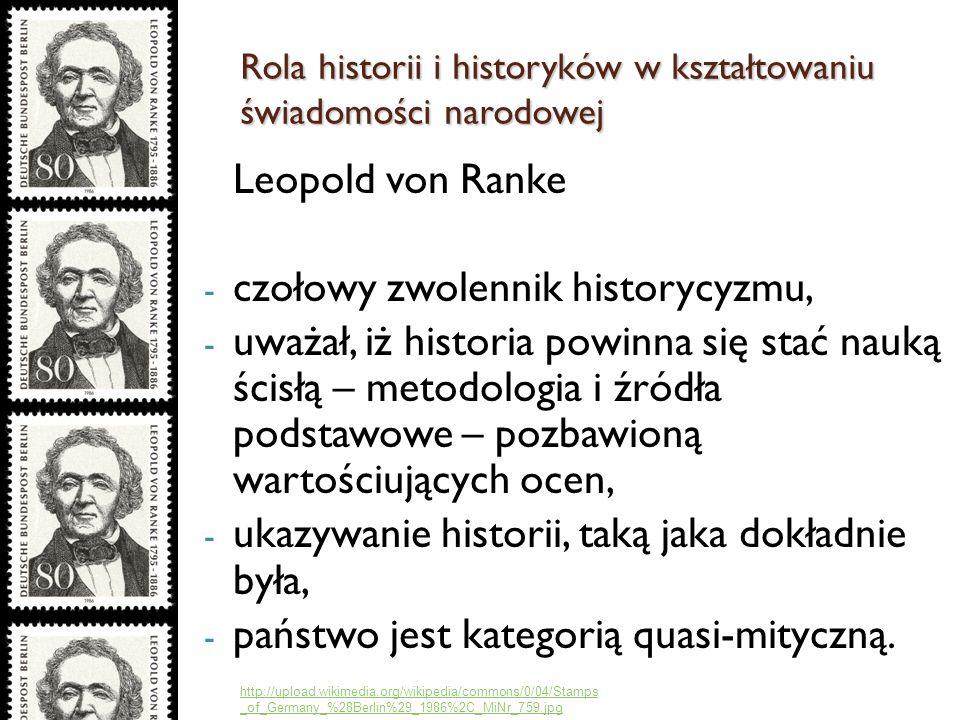 czołowy zwolennik historycyzmu,