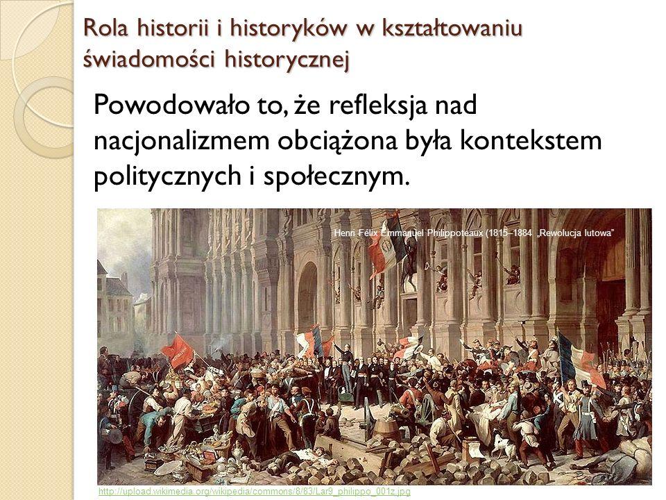 Rola historii i historyków w kształtowaniu świadomości historycznej