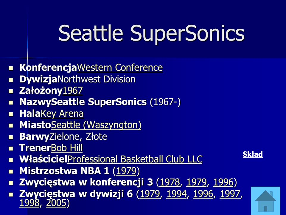 Seattle SuperSonics KonferencjaWestern Conference