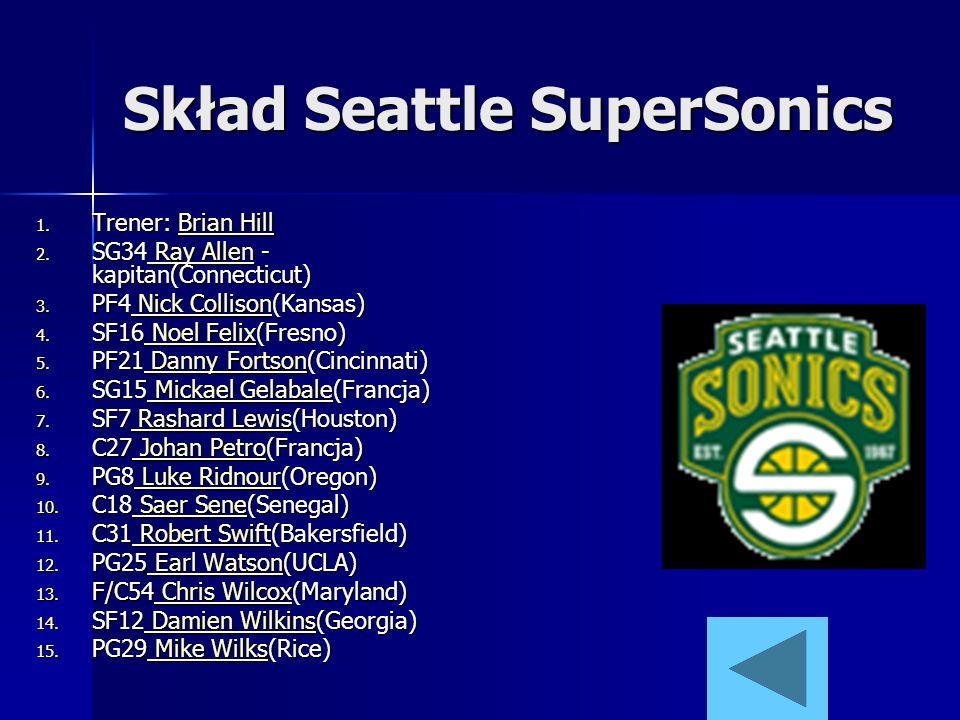 Skład Seattle SuperSonics