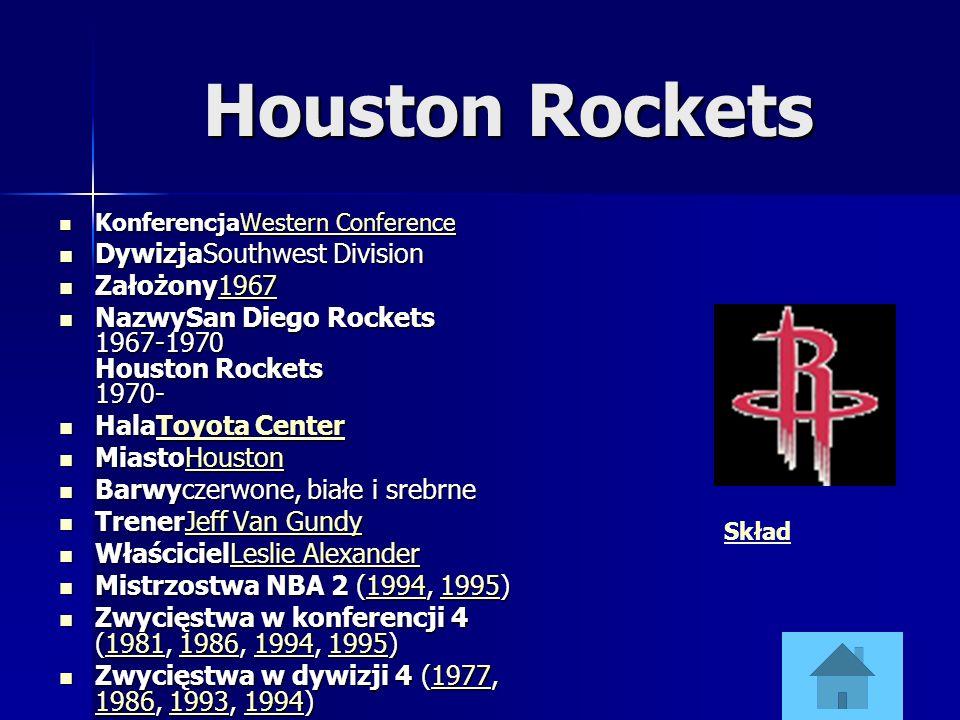 Houston Rockets DywizjaSouthwest Division Założony1967