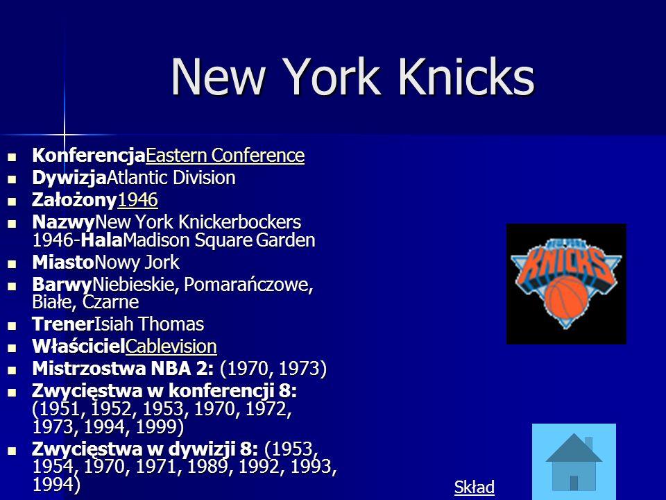 New York Knicks KonferencjaEastern Conference DywizjaAtlantic Division