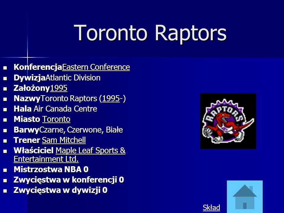 Toronto Raptors KonferencjaEastern Conference DywizjaAtlantic Division