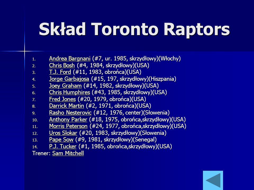 Skład Toronto Raptors Andrea Bargnani (#7, ur. 1985, skrzydłowy)(Włochy) Chris Bosh (#4, 1984, skrzydłowy)(USA)