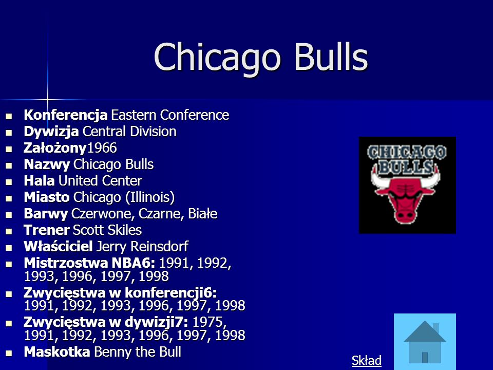 Chicago Bulls Konferencja Eastern Conference Dywizja Central Division