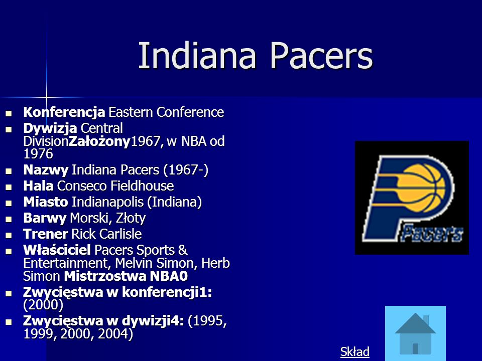 Indiana Pacers Konferencja Eastern Conference