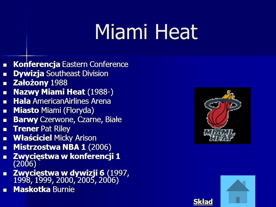Miami Heat Konferencja Eastern Conference Dywizja Southeast Division