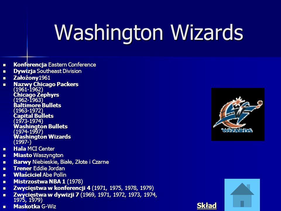 Washington Wizards Skład Konferencja Eastern Conference