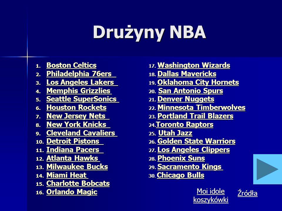 Drużyny NBA Boston Celtics 17. Washington Wizards