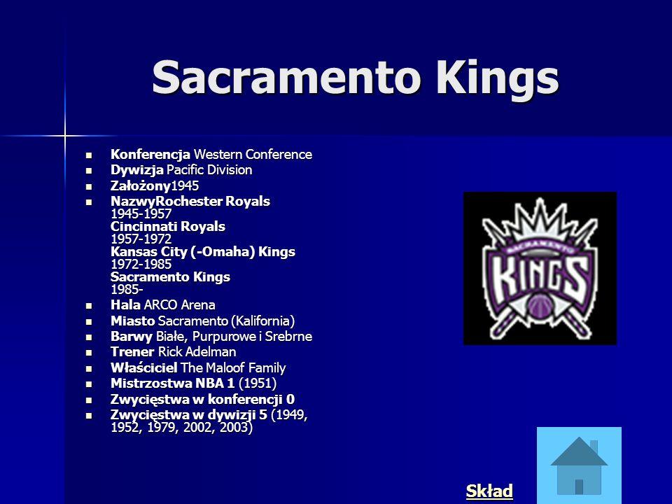 Sacramento Kings Skład Konferencja Western Conference